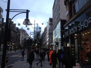 Oxford Street sobre las 8